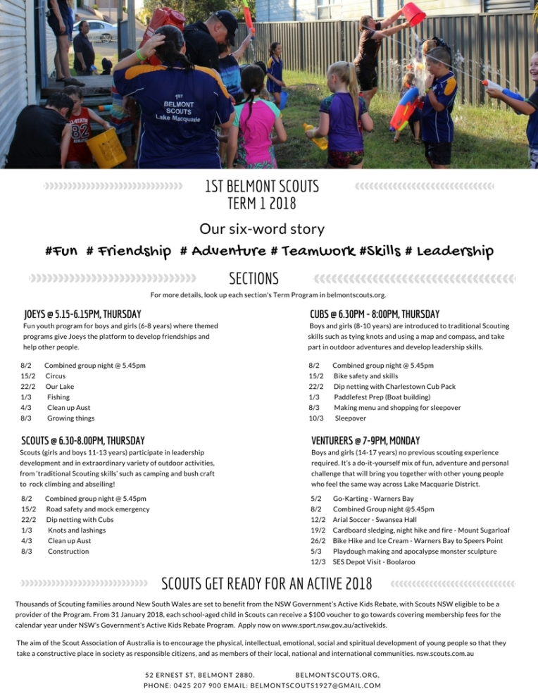 Belmont newsletter Term 1 2018